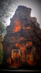 sunset sur temple